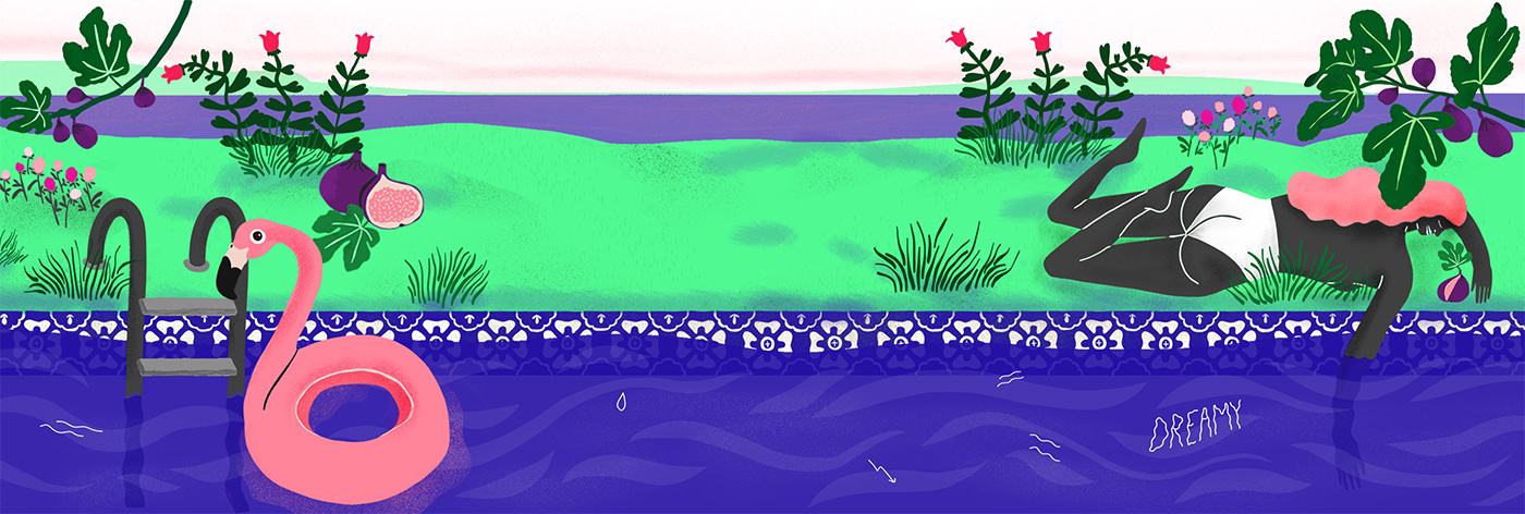 Илюстрацията на Rozalina Burkova за Fig Leaves ароматна свещ