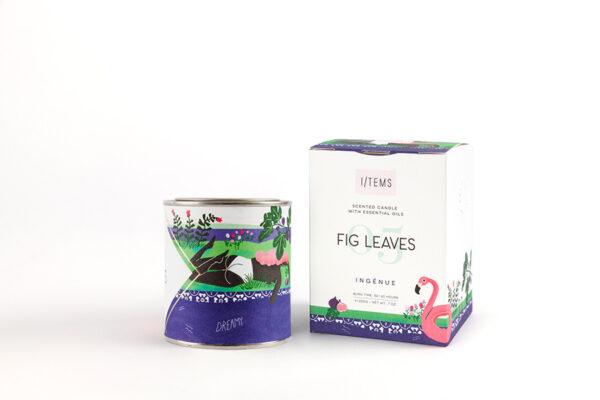 Ароматна свещ с етерични масла 05/FIG LEAVES