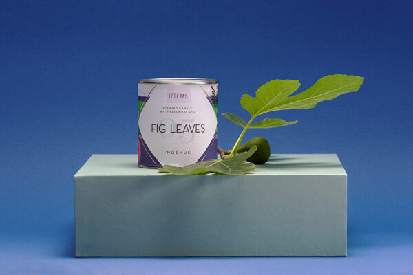 Ароматна свещ с етерични масла 05 / Fig Leaves