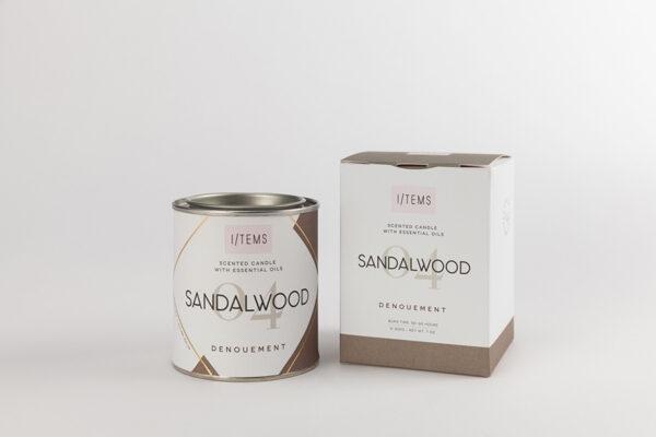 Ароматна свещ с етерични масла 04/SANDALWOOD
