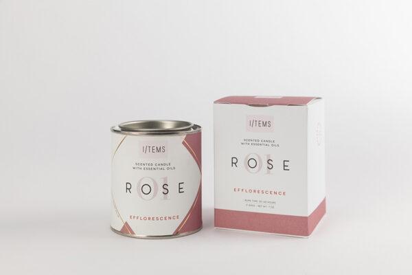 Ароматна свещ с етерични масла 01/ROSE