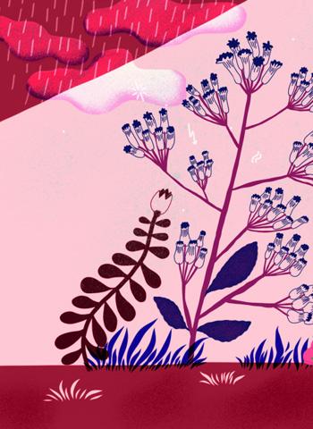 Илюстрацията върху ароматна свещ 06/UNDERWOOD