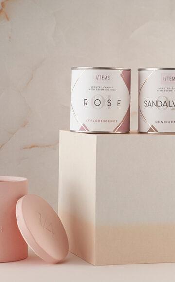 Ароматните свещи Rose Ash + 01/ROSE